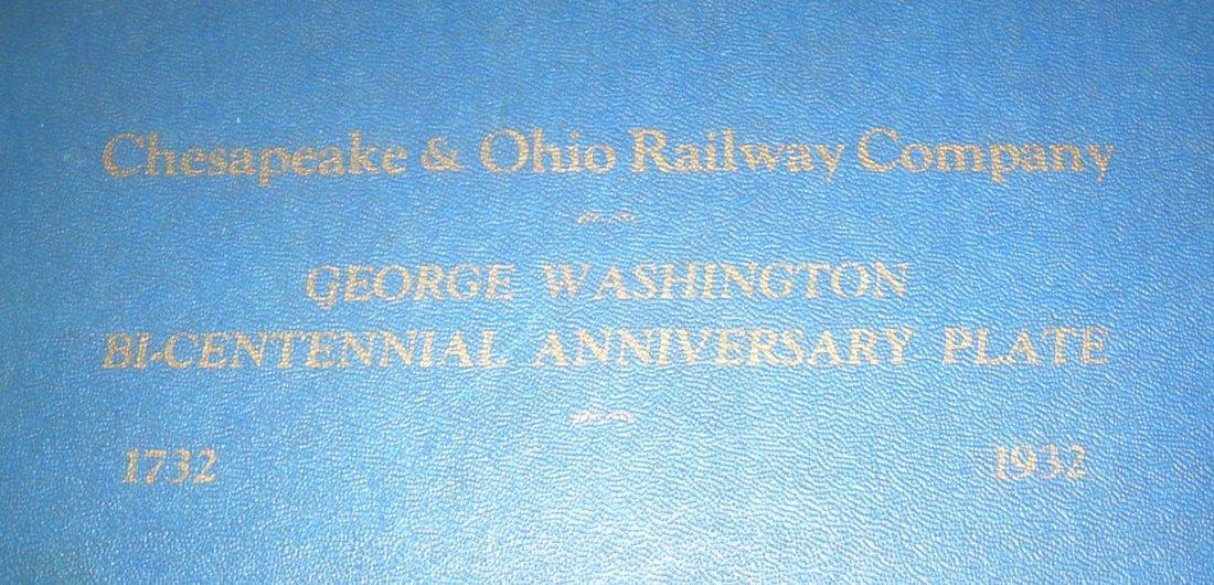 Chesapeake & Ohio Washington Plate in original box - 3