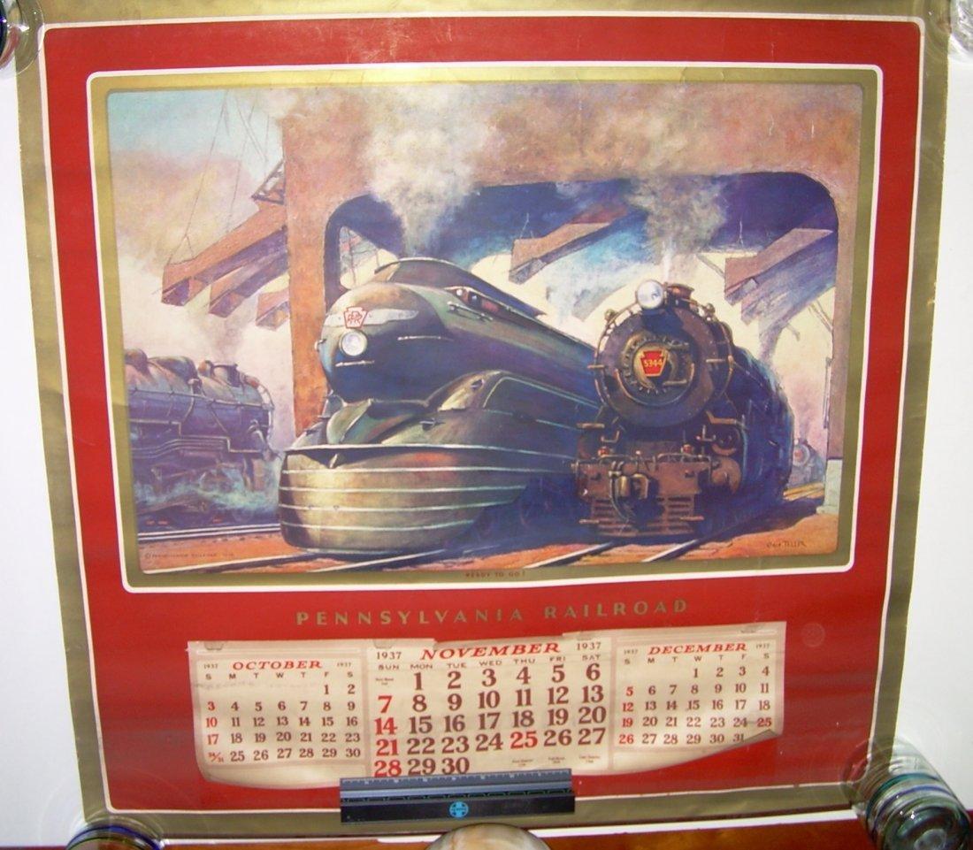 Pennsylvania Railroad Calendar 1937