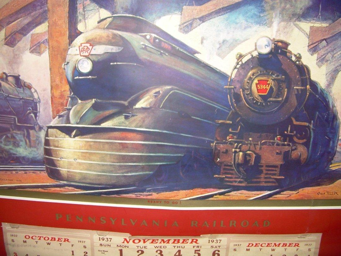Pennsylvania Railroad Calendar 1937 - 2