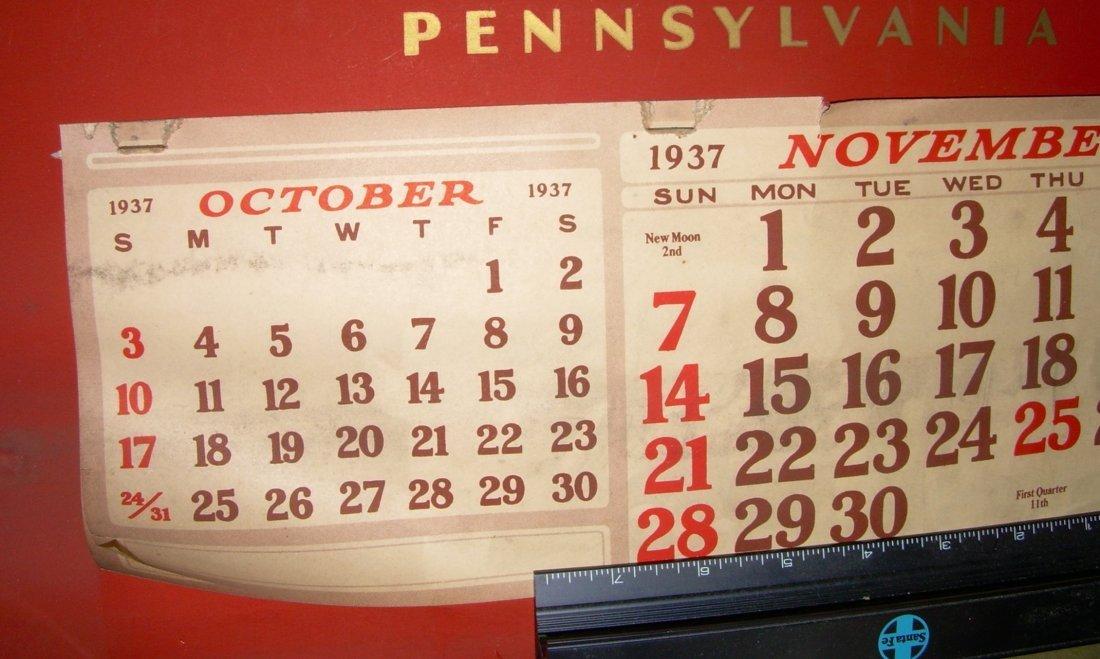 Pennsylvania Railroad Calendar 1937 - 4