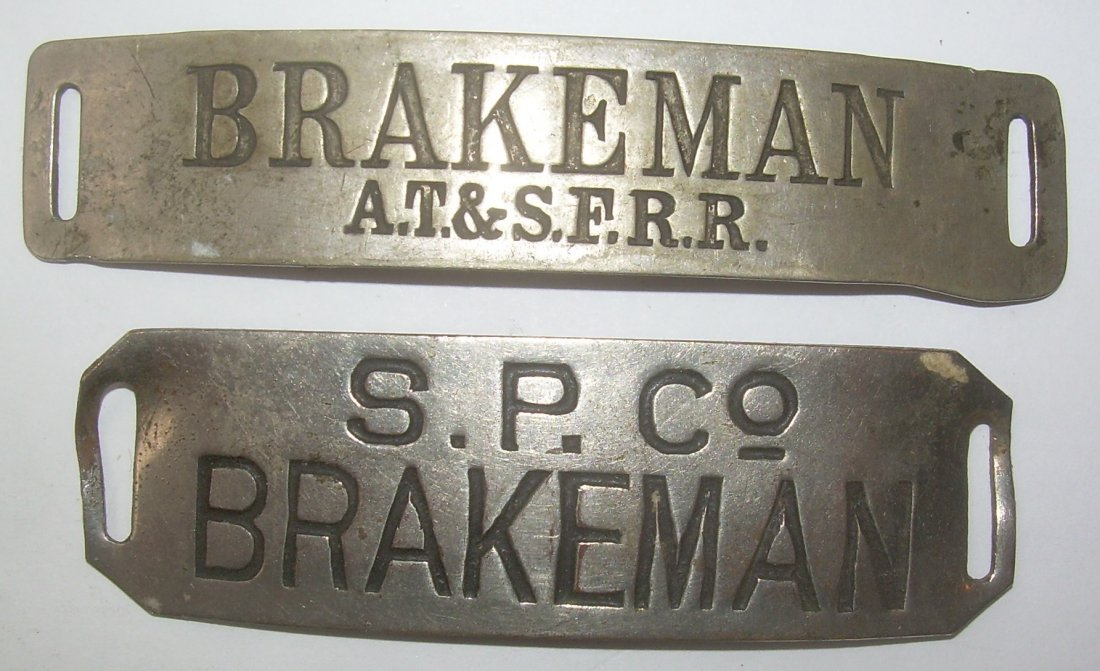 Satna Fe & Southern Pacific Hat Badges (2)
