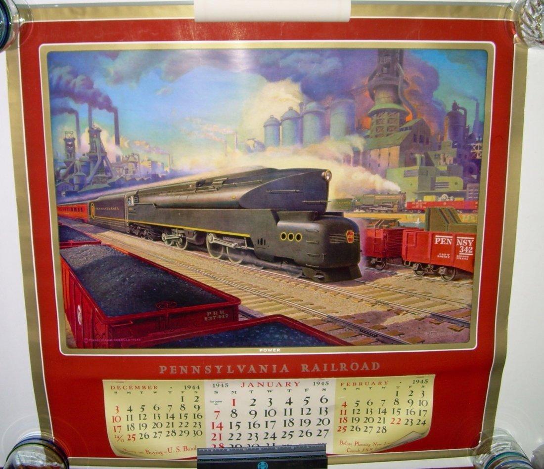 Pennsylvania Railroad Calendar 1945