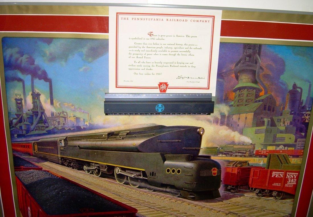 Pennsylvania Railroad Calendar 1945 - 2