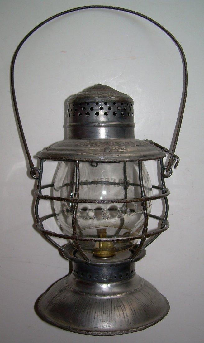 Big Four Railroad Bellbottom Lantern nice Globe