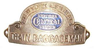 NYCS Train Baggageman Hat Badge