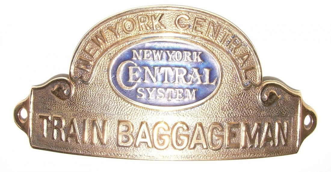 NYCS Train Baggageman Hat Badge