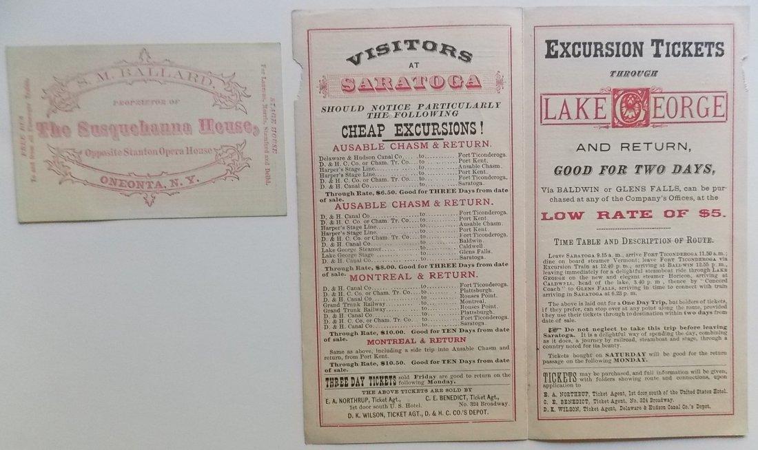 Delaware & Hudson / A&S timetables 1870s - 2