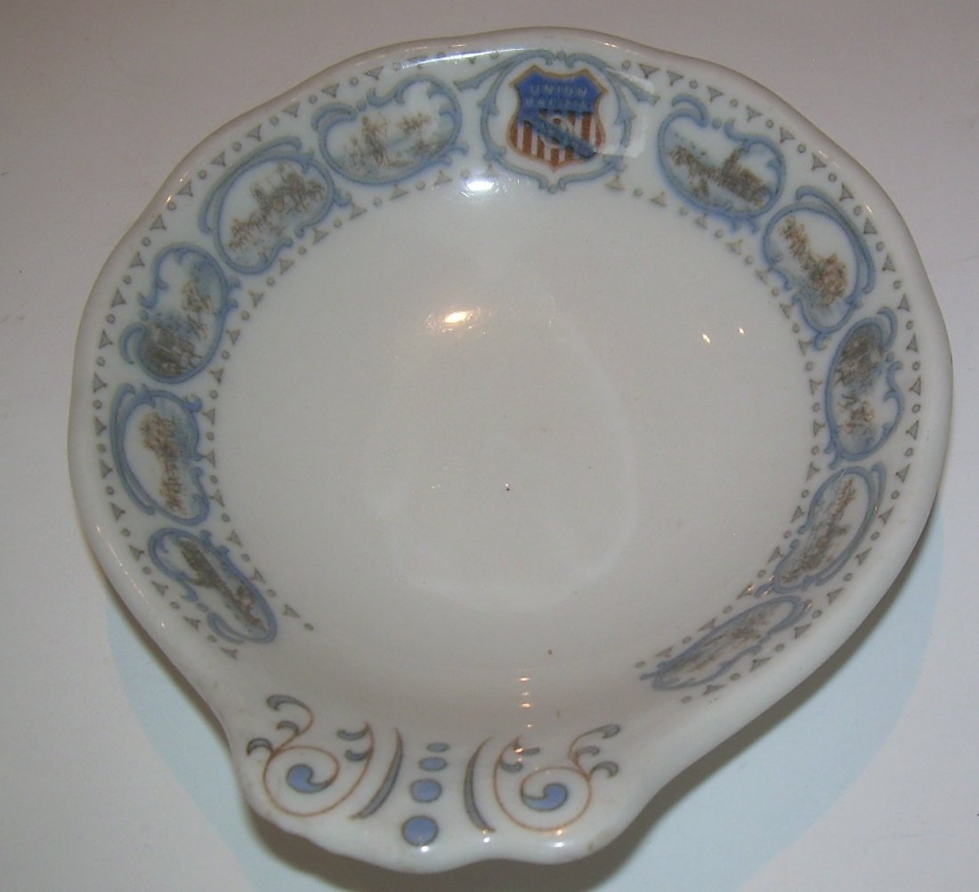 Union Pacific Historical China Ice Cream Dish - as is