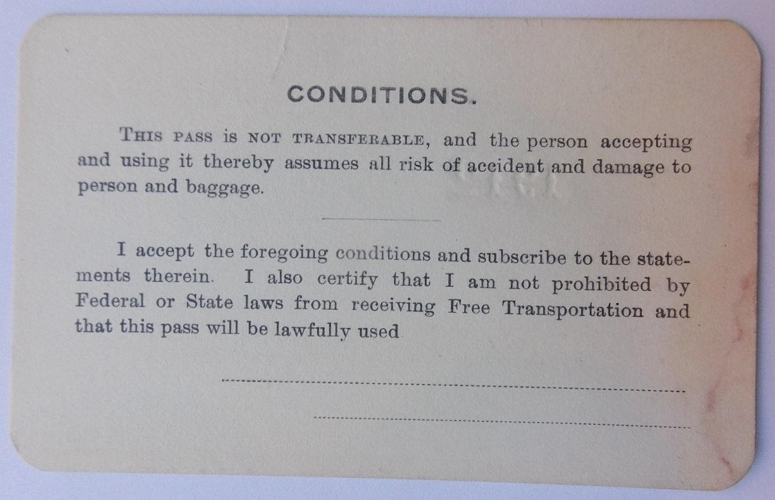 Williamsport & North Branch Pass 1912 - 2