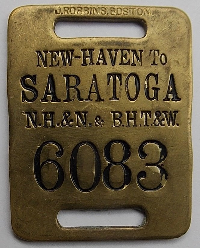 Saratoga New York / New Haven - Baggage Tag