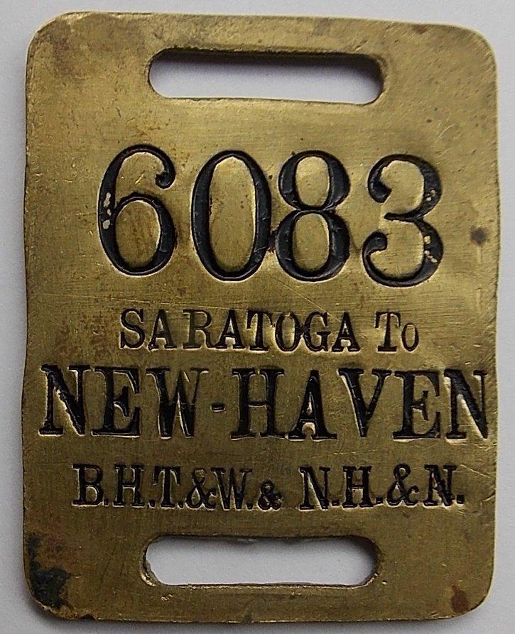 Saratoga New York / New Haven - Baggage Tag - 2