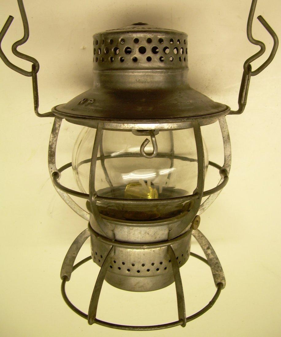 Northern Pacific Railway Lantern Etched Globe
