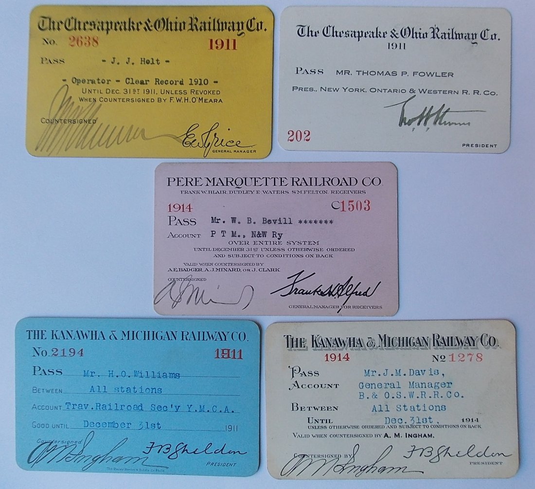 C&O / Michigan Railroad Passes (5)