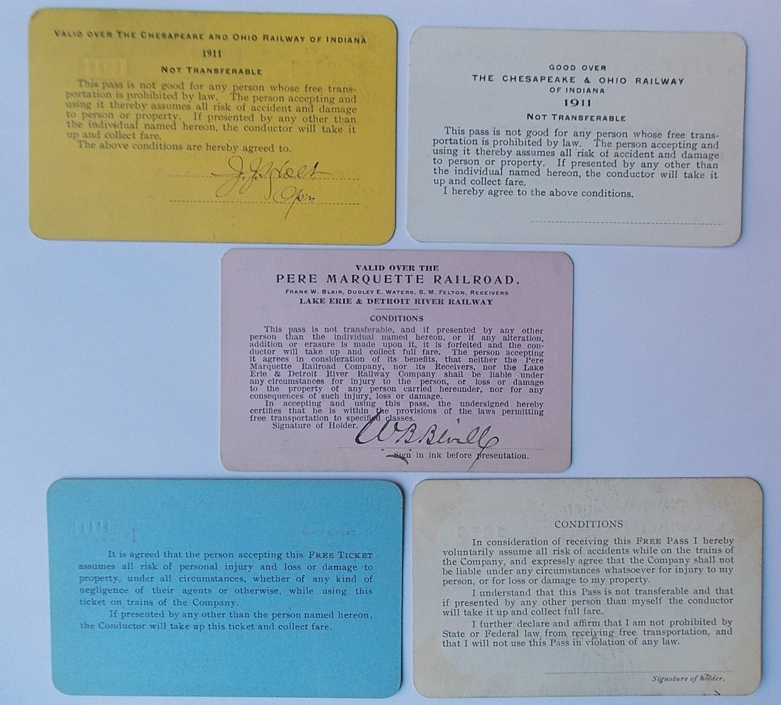 C&O / Michigan Railroad Passes (5) - 2