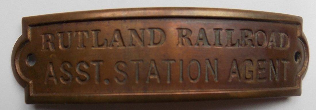 Rutland Railroad Assistant Station Agent Hat Badge