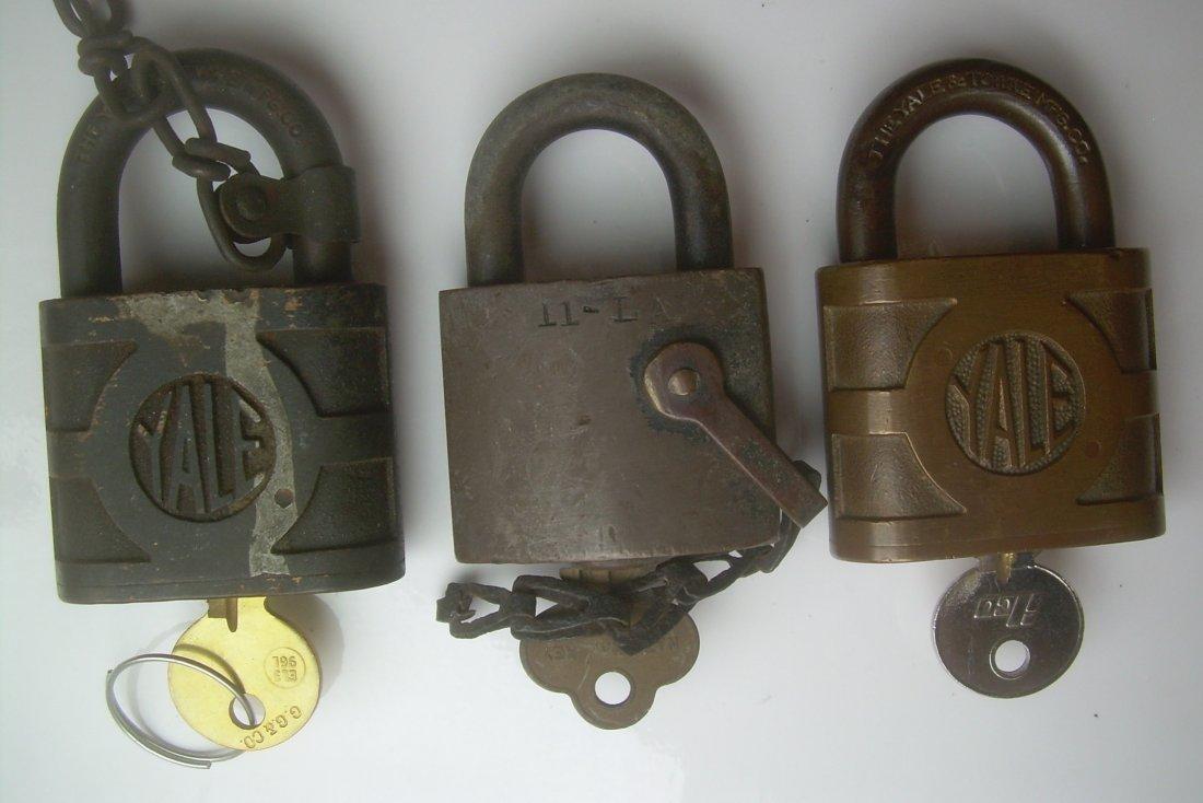 New Haven & Pennsy Brass Locks (3) - 2