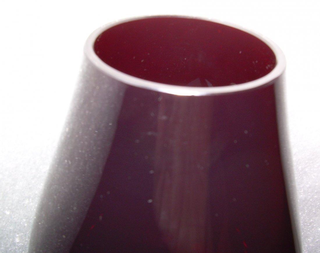 Red Vesta Lantern - free blown bubbles - 2