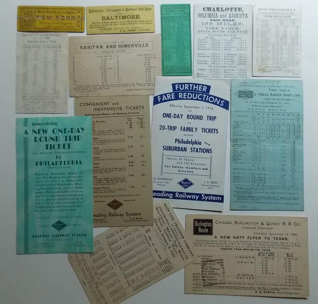 Railroad Ephemera - Timetables, Etc.