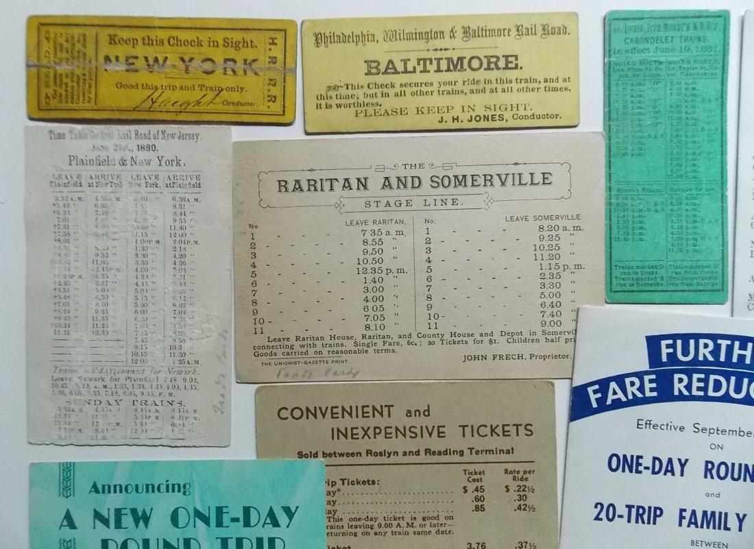 Railroad Ephemera - Timetables, Etc. - 2