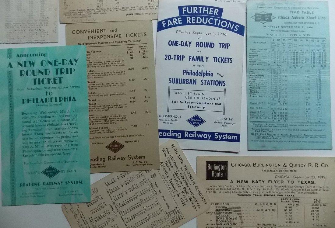 Railroad Ephemera - Timetables, Etc. - 3