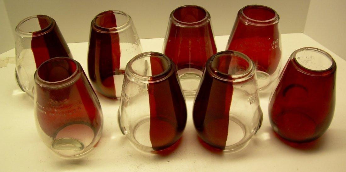 8 Rayo Pont Bullseye Globes with Red Flashing