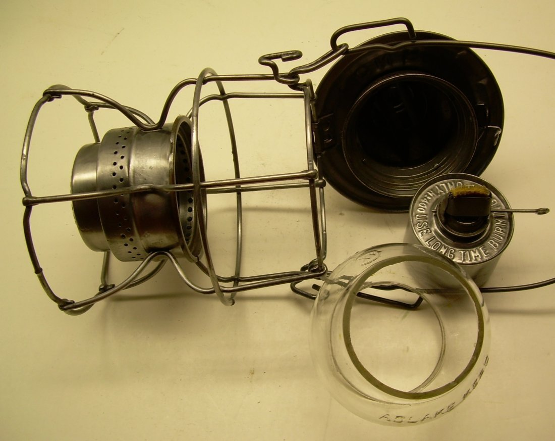 Canadian National Railway Kero Lantern Cast Globe - 6