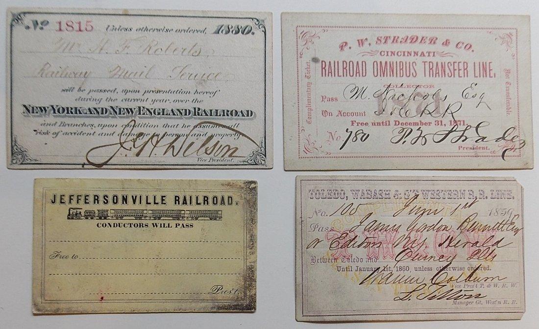 Railroad Annual Passes (4)