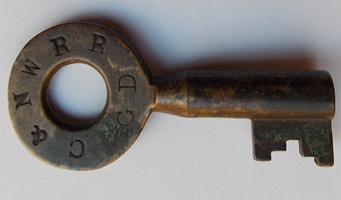 Chicago & Northwestern Tapered Barrel Switch Key
