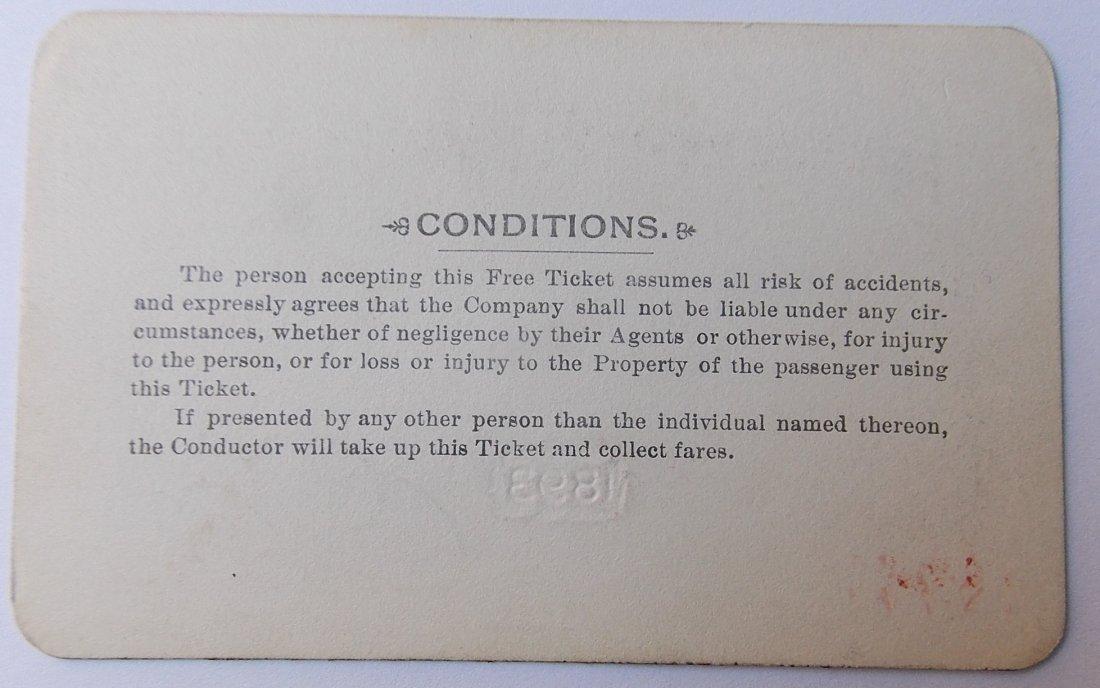 Bennington & Rutland Railroad Pass 1893 - 2