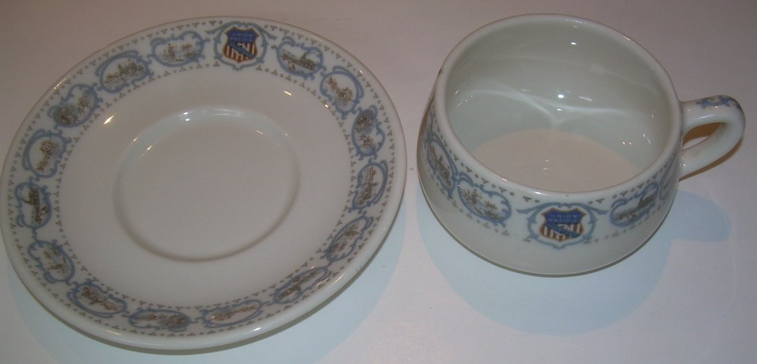 Union Pacific Historical China Cup & Saucer - as is