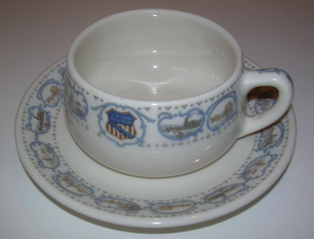 Union Pacific Historical China Cup & Saucer - as is - 2