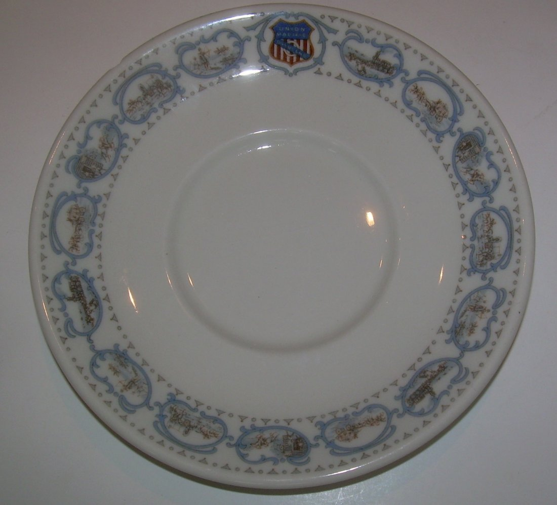 Union Pacific Historical China Cup & Saucer - as is - 3