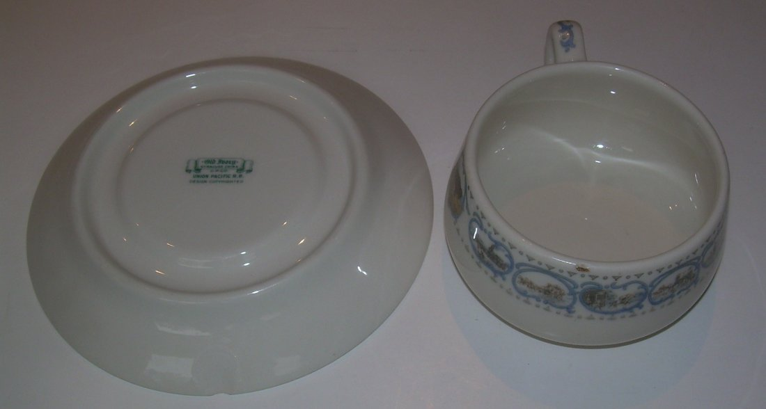 Union Pacific Historical China Cup & Saucer - as is - 4