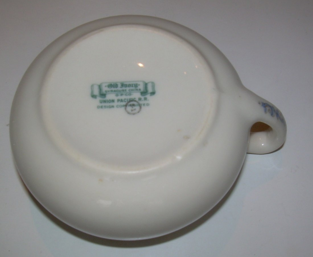 Union Pacific Historical China Cup & Saucer - as is - 6