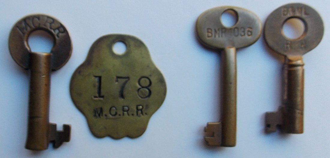 New England Keys & Tag: MEC, B&ML, B&M