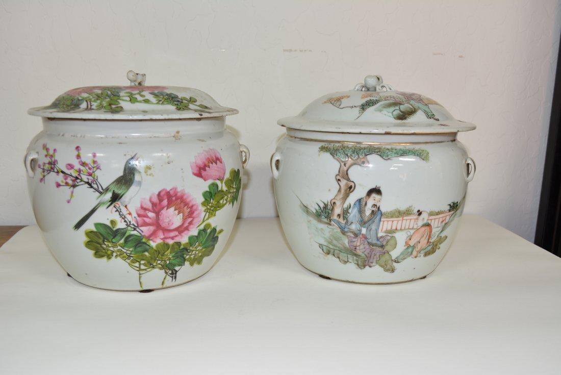 2 Chinese porcelain ginger Jars