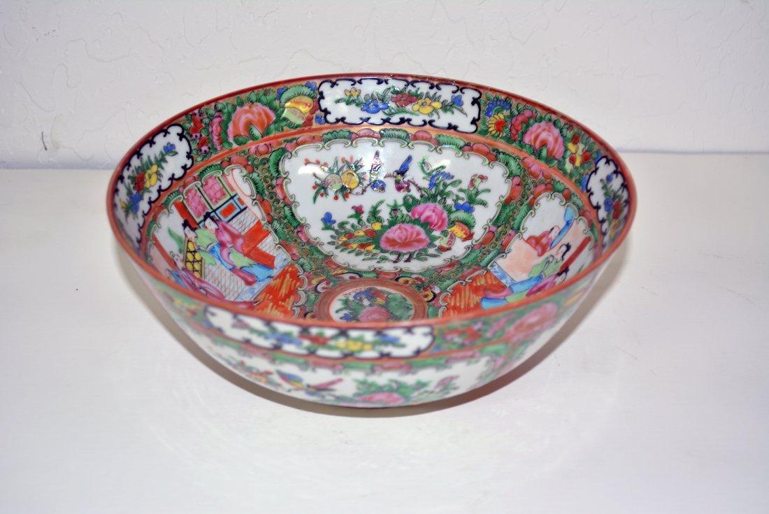 Large Chinese porcelain famille rose bowl