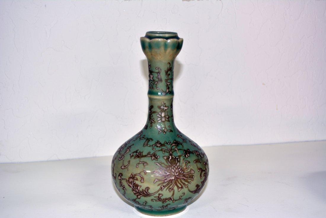 Chinese porcelain green Flower Vase