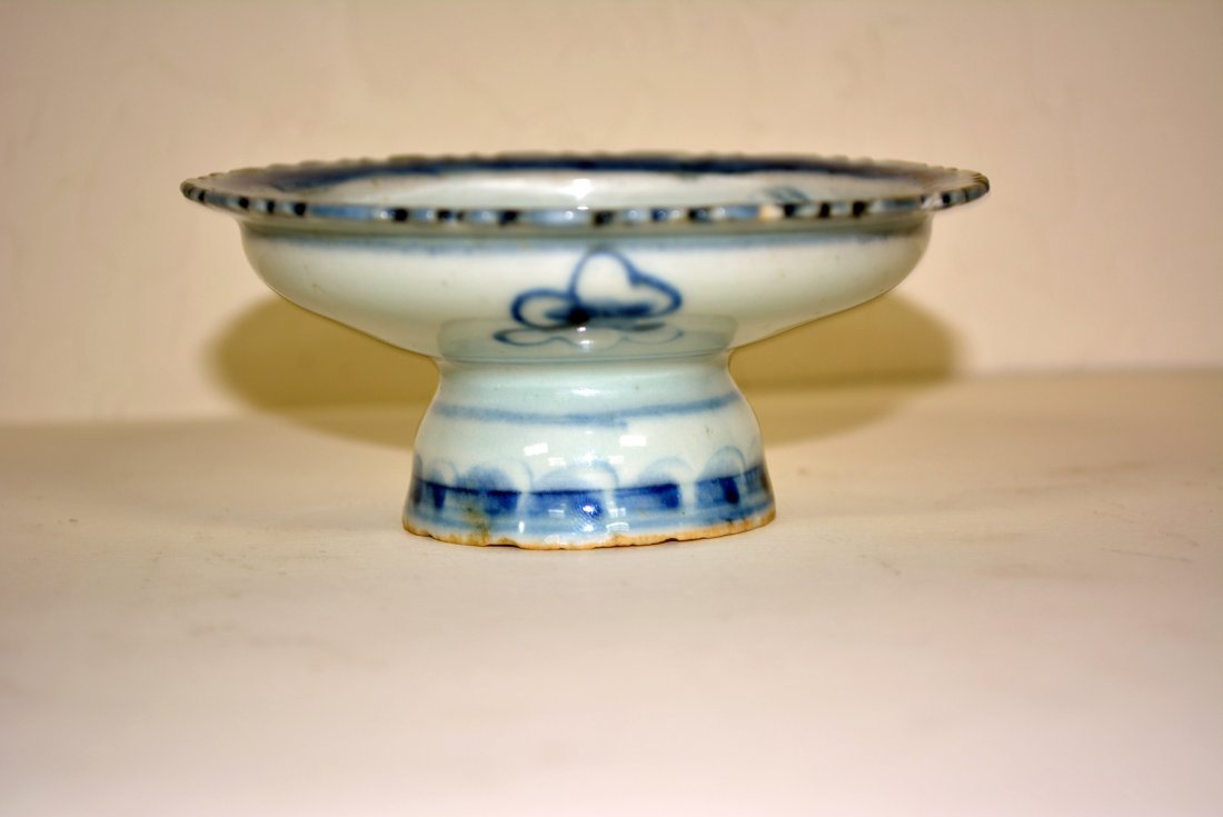 Chinese Small  pedestal saucer for Buddha alter