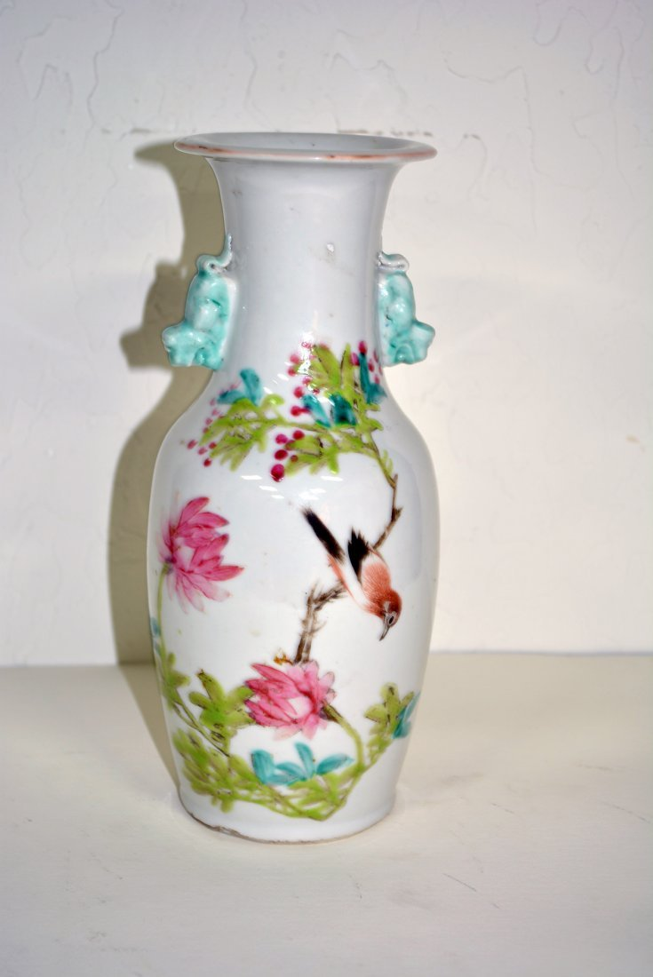 White porcelain Vase with small handles
