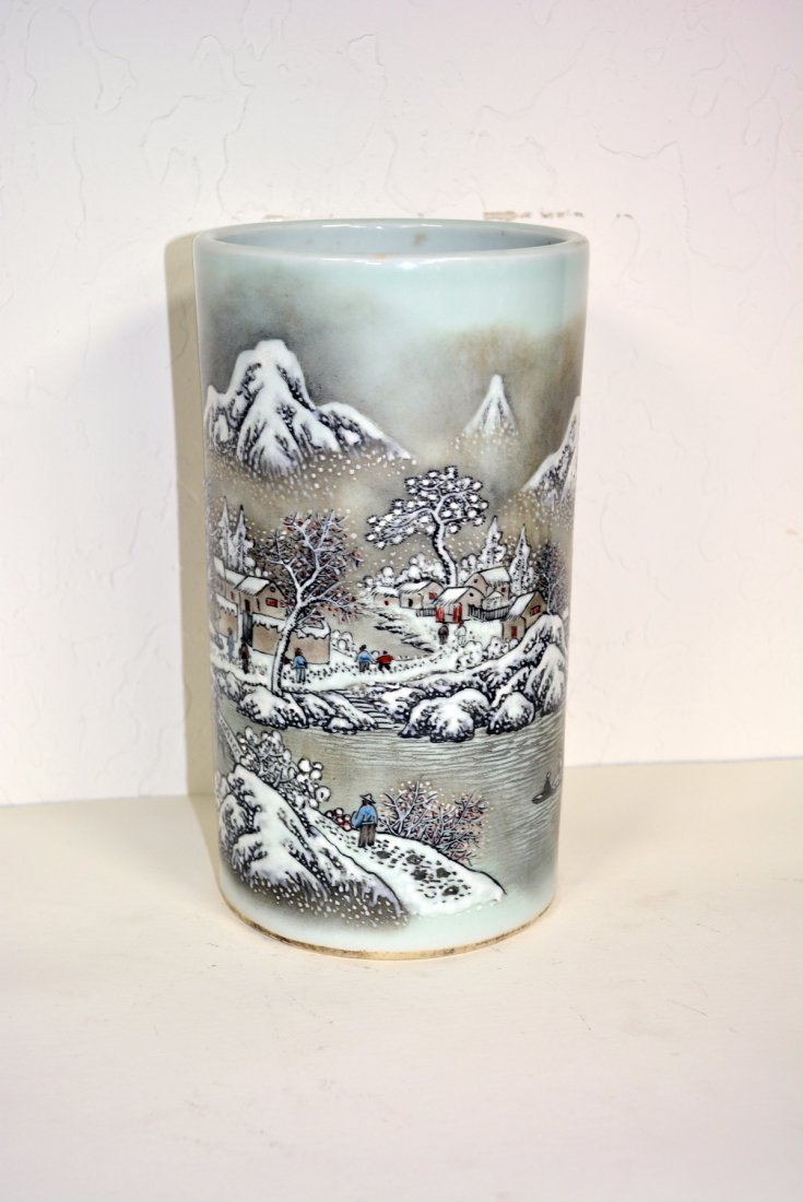 Chinese porcelain bush holder