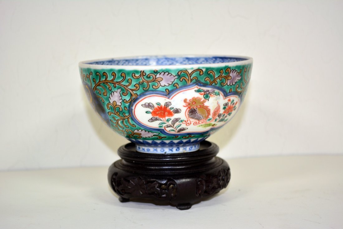 Chinese porcelain bowl with green painting