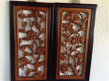 Chinese Rosewood Decorative Carved Pieces