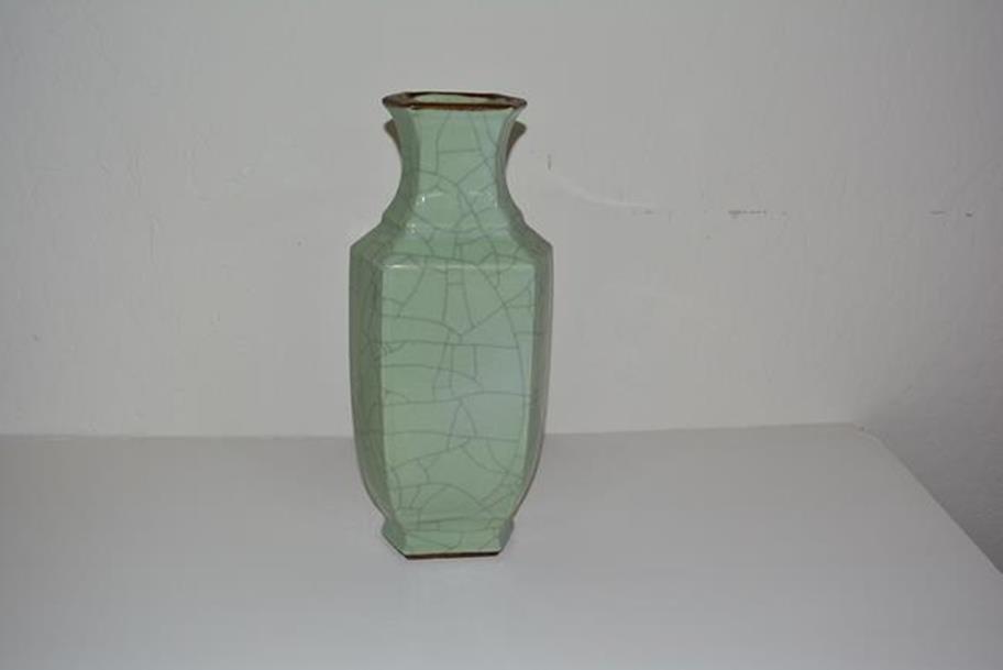 Blue Green Porcelain Vase