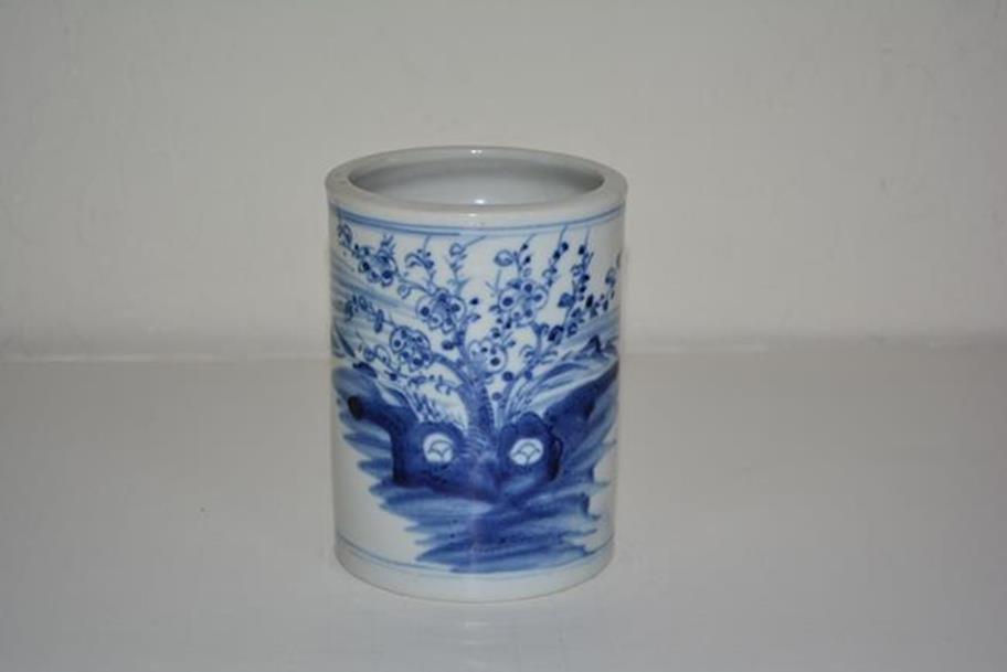Porcelain blue and white Brush Holder