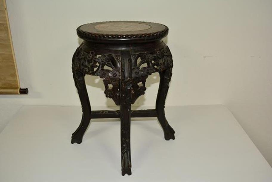 Rosewood With Marble Center Stand