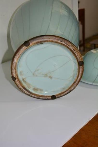 American Large Porcelain light blue vase - 2