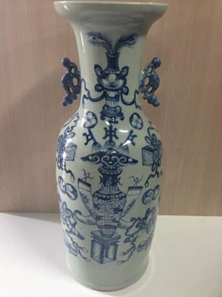 19th Century Blue Vase