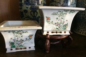 Pair Of China Planters