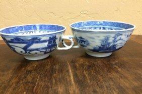 Pair Of Blue Teacups